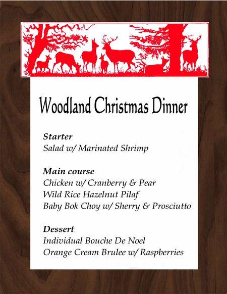 Woodland menue