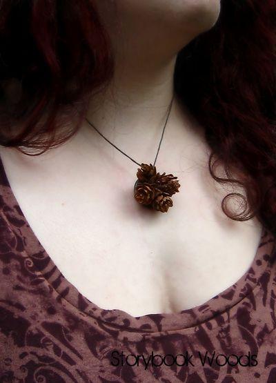 Necklace pinecones