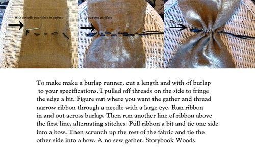 Burlap runner