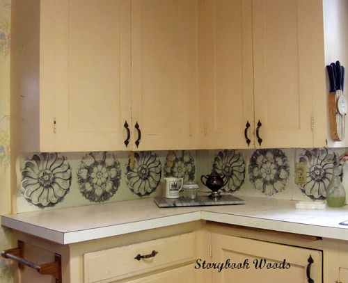 Inexpensive Medallion Kitchen Backsplash Storybook Woods