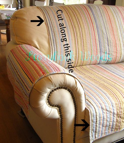 Make Your Own Loveseat Protector Storybook Woods