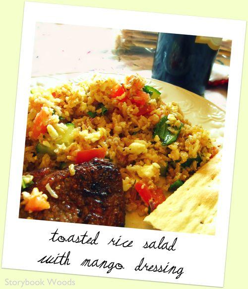 Toasted rice salad