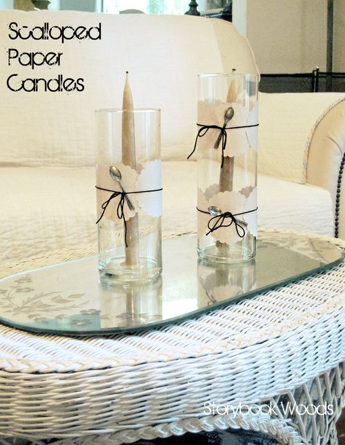 Scalloped paper candles 3