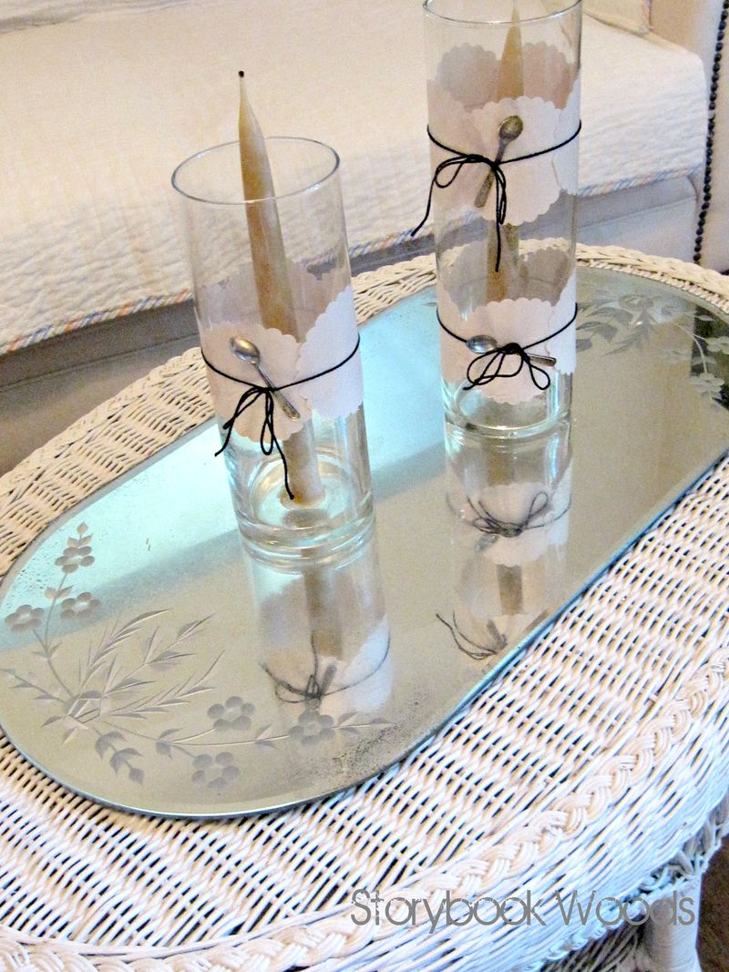 Scalloped paper candles