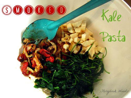 Smoked kale pasta