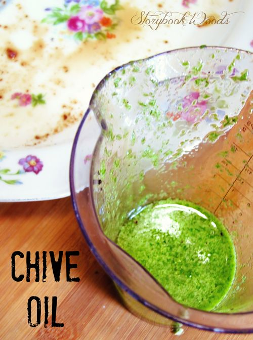 Chive oil2