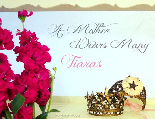 Purp flower tiara