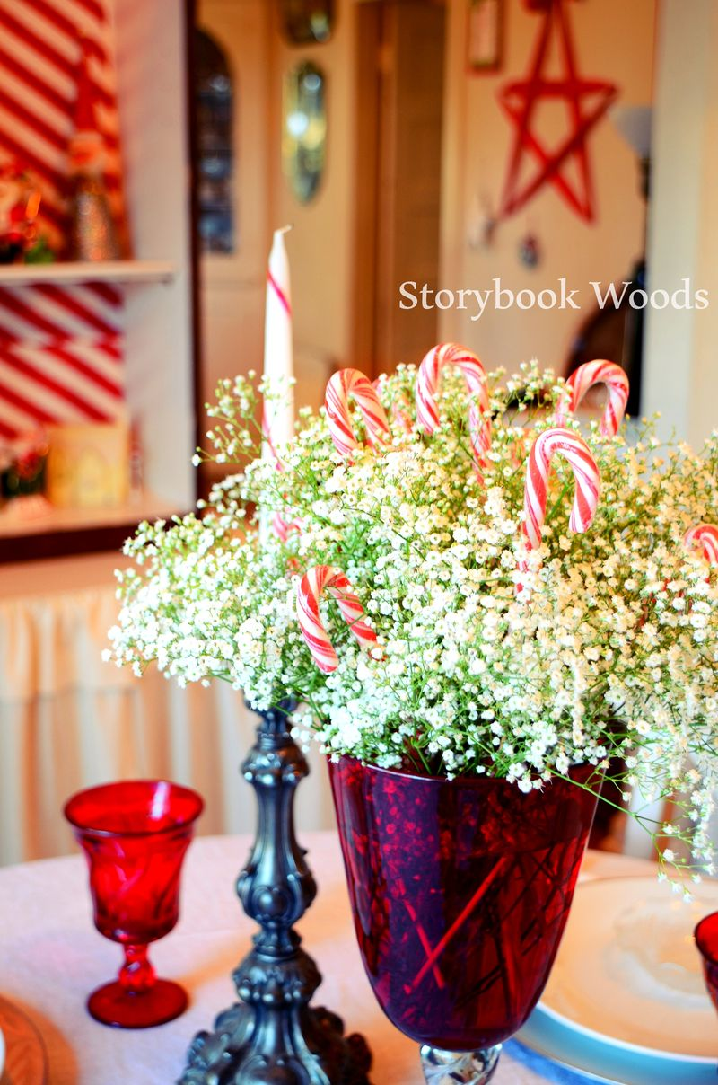 Red and white dining2 Storybook Woods