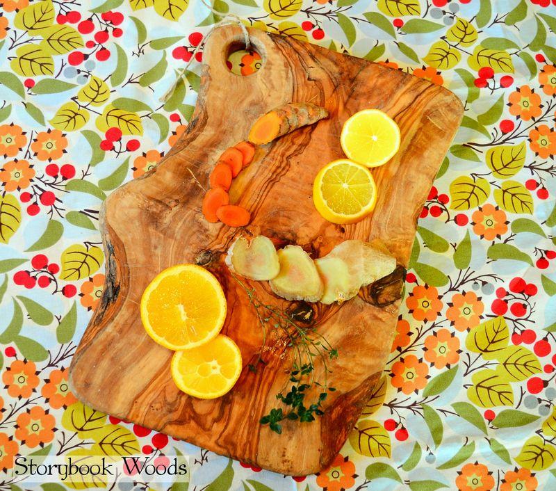 Citrus thyme tumeric tea1 storybook woods