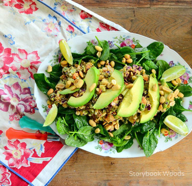 Thai Peanut Butter Salad 1 StorybookWoods