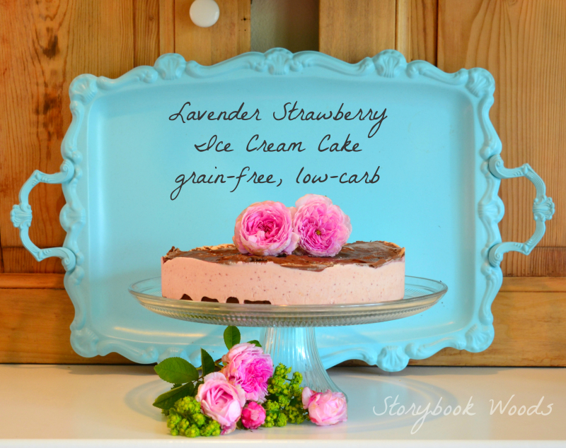 Lavender Strawberry Icecream cake Storybook Woods