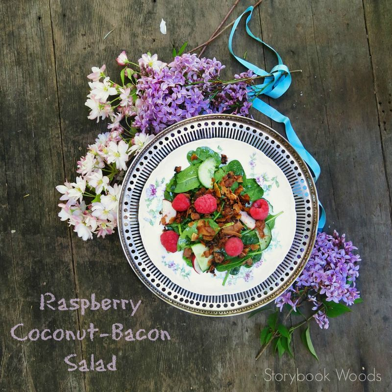 Raspberry Coconut Bacon Salad Storybook Woods