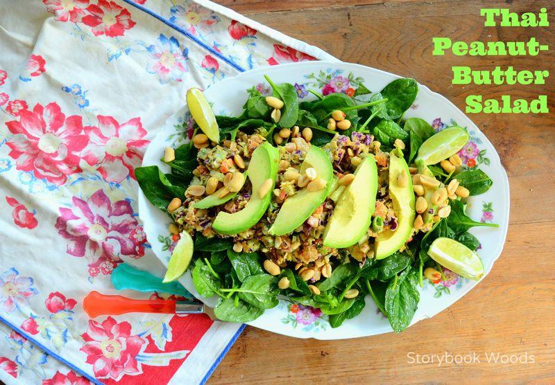 Thai Peanut Butter Salad 2 StorybookWoods