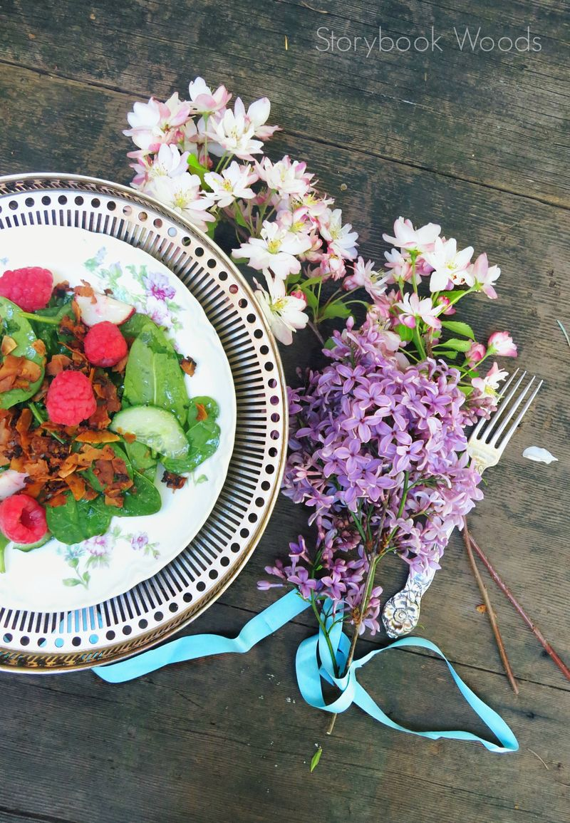 Raspberry Coconut Bacon Salad3 Storybook Woods