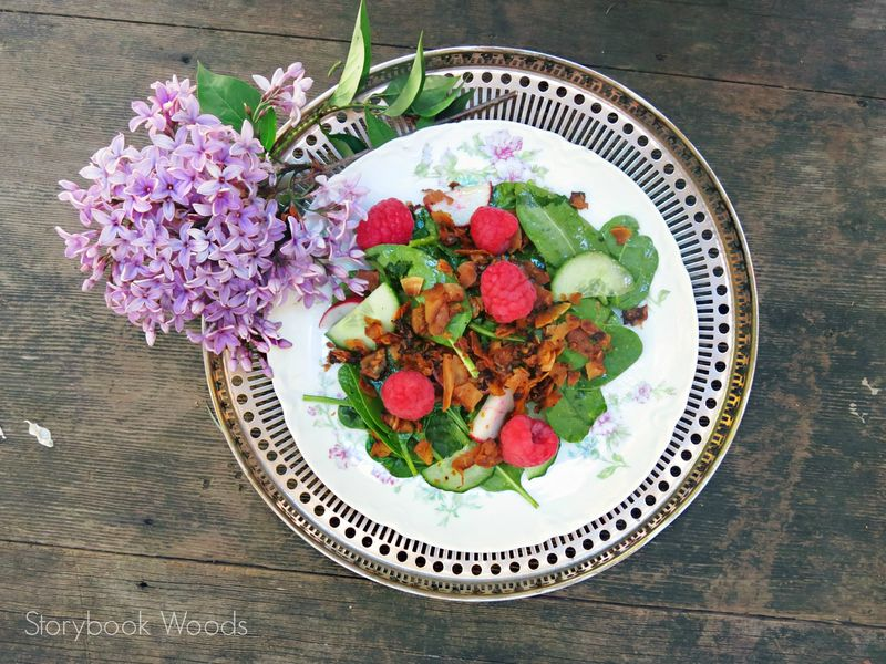 Raspberry Coconut Bacon Salad4 Storybook Woods