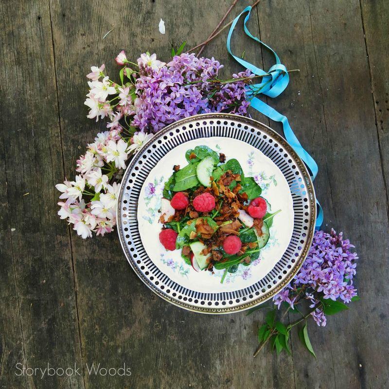 Raspberry Coconut Bacon Salad2 Storybook Woods
