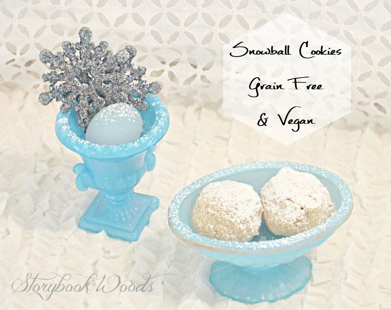 Grain-free snowball cookies storybook woods