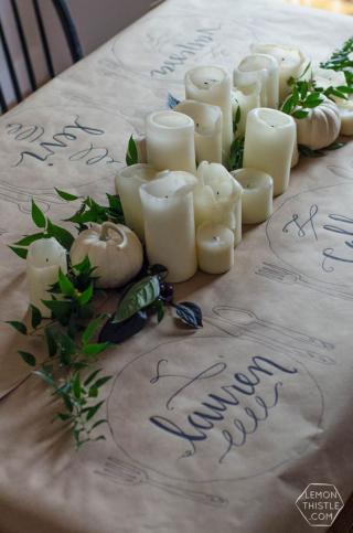 Paper tablecloth