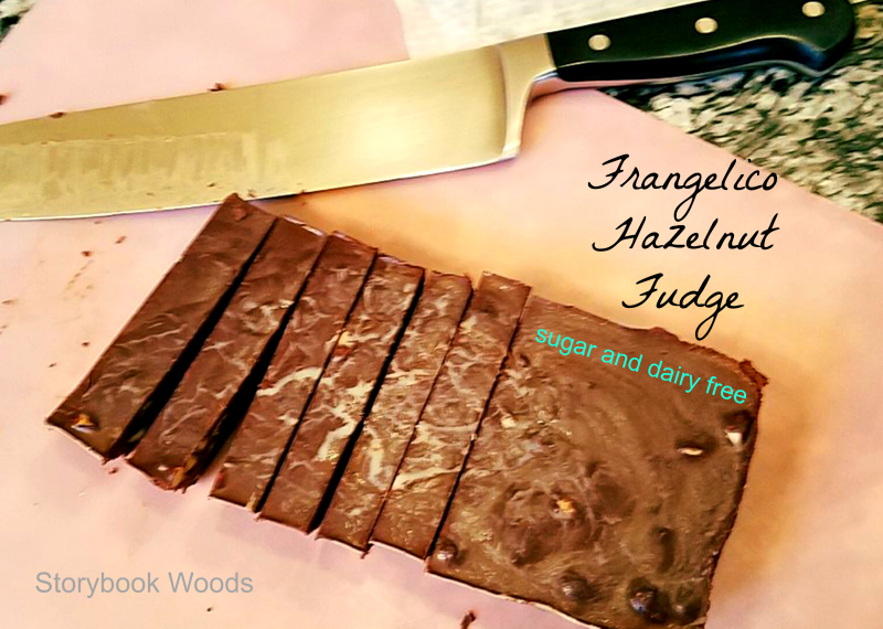 Frangelico Hazelnut Fudge sugar and dairy free, Storybook Woods