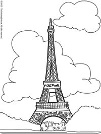 Eiffel Tower Coloring Pictures Paris on Eiffeltower