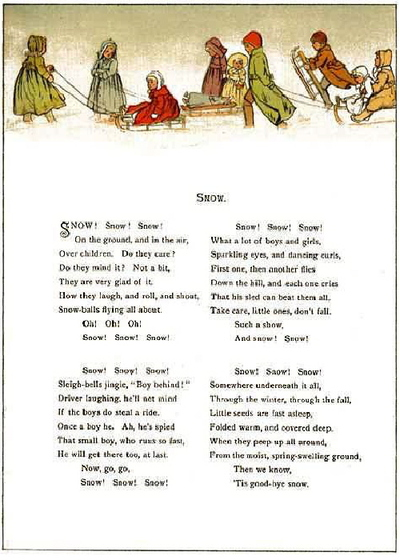 winter poems for children. Snow