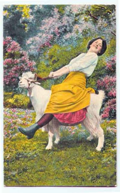 Woman_on_goat_vintage